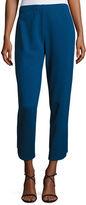 Joan Vass Ponte Ankle Pants, Black, Plus Size