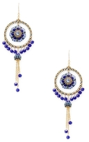 Miguel Ases Beaded Dream Catcher Statement Earrings
