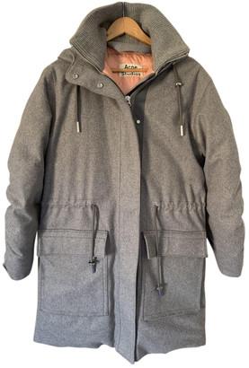 Acne Studios Grey Wool Coats