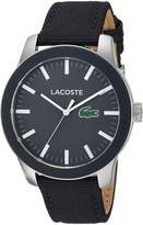 Lacoste Men's '12.12' Quartz Stainless Steel and Nylon Casual Watch, Color: (Model: 2010919)