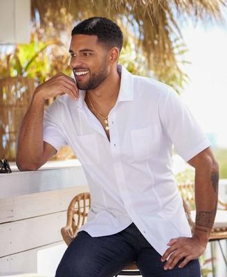 Cubavera Button-Down Knit Shirt