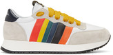 Paul Smith Grey and White Stitch Sneakers