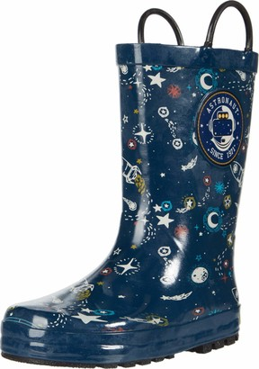 Western Chief boys Waterproof Easy-on Printed Boot Rain Shoe