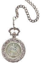American Coin Treasures Seated Liberty Silver Half-Dollar Pocket Watch