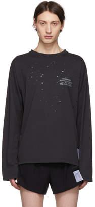 Satisfy Black Deserter Moth Eaten Long Sleeve T-Shirt