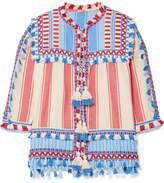Dodo Bar Or - Tasseled Striped Cotton-gauze Jacket - Azure