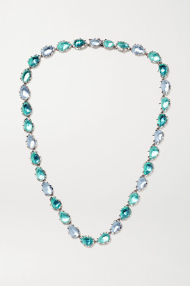 Larkspur & Hawk Caterina Riviere Rhodium-dipped Quartz Necklace - Silver