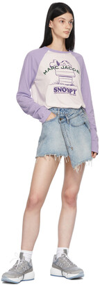 Marc Jacobs Purple Peanuts Edition 'Rest Of My Life' Long Sleeve T-Shirt