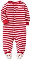 "Carter's Baby Santa's Helper"" Velour Sleep & Play"