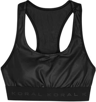 Koral Activewear Performance Infinity Satin Stretch-jersey Bra Top