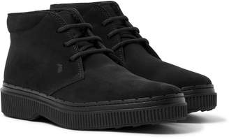 Tod's Shearling-Lined Suede Chukka Boots