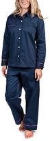 Malabar Bay Navy Color Block Sateen Pajama Set