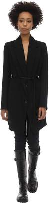 Ann Demeulemeester Long Wool & Cotton Jacket