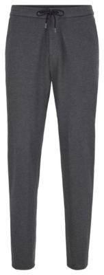BOSS Slim-fit trousers in stretch fabric with elasticated waistband