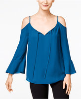 INC International Concepts Petite Bell-Sleeve Cold-Shoulder Top, Only at Macy's
