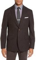 Men's Big & Tall Flynt Regular Fit Stripe Wool Blend Sport Coat