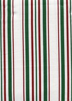 Ralph Lauren Noel Stripe Red, Green and White Holiday Tablecloth, 70-Inch Round