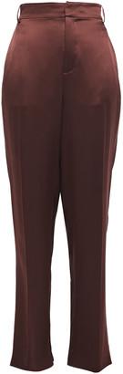 Joseph Jack Silk-satin Wide-leg Pants