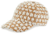 Federica Moretti Tom Frayed Canvas Baseball Cap, White
