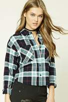 Forever 21 Tartan Plaid Flannel Shirt