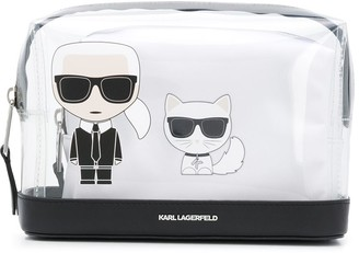 Karl Lagerfeld Paris K/Ikonik transparent make-up pouch