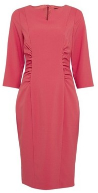 Dorothy Perkins Womens Pink Ruched Waist Dress, Pink