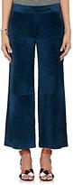 Derek Lam Women's Suede Gaucho Pants-Blue, Navy