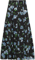 Emilia Wickstead Mercia Printed Crepe Midi Skirt - Black