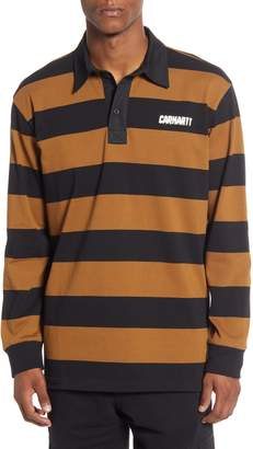 Carhartt Work In Progress Easton Stripe Long Sleeve Rugby Polo