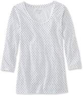 L.L. Bean West End Fitted Tee, Three-Quarter-Sleeve Scoopneck Dot