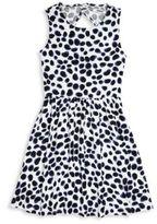 DKNY Girl's Animal Print Open Back Dress