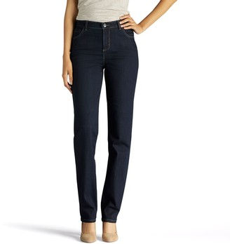 Lee Women's Instantly Slims High Waisted Straight-Leg Jeans