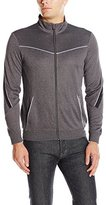 Calvin Klein Men's Long Sleeve Mock Neck Elite Track Jacket