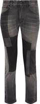 Facetasm Patchwork low-rise straight-leg jeans