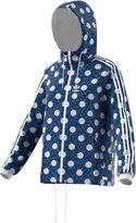 adidas Dot-Print Hooded Windbreaker