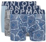 Topman Blue Paisley Trunks 3 Pack