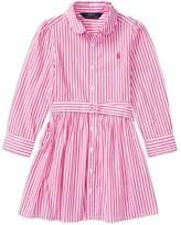 Polo Ralph Lauren Girls' Bengal Stripe Shirtdress - Little Kid