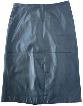 Mila Louise Black Leather Skirt for Women