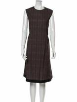 Thumbnail for your product : Ter Et Bantine Animal Print Midi Length Dress Brown