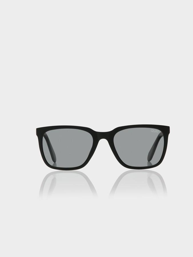 Quay Legacy Sunglasses in Matte Black Smoke
