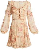 Zimmermann Corsair Frill floral-print silk-georgette dress