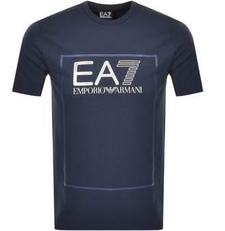 Emporio Armani Ea7 EA7 Box Logo T Shirt Navy