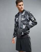 New Look New Look Sport Bomber Jacket In Black Camo