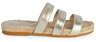 Saks Fifth Avenue Peggy Metallic Leather Espadrilles