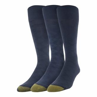 Gold Toe Men's Diamond Micro Nylon Dress Socks 3 Pairs