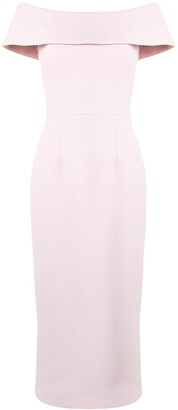 Rebecca Vallance Off-Shoulder Fitted Dress