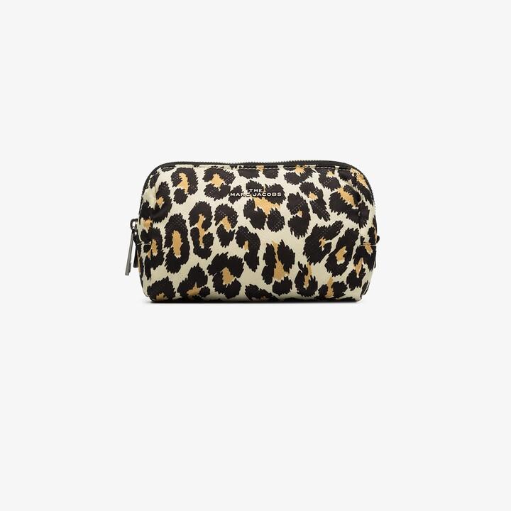 Marc Jacobs multicoloured The Beauty leopard print makeup bag