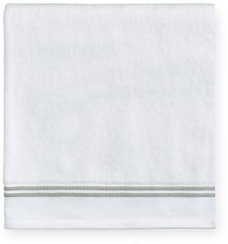 Sferra Aura Washcloth - White/Celadon