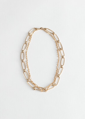 And other stories Duo Chunky Chain Necklace