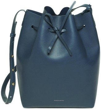 Mansur Gavriel Calf Bucket Bag - Blu
